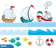 морской комплект scrapbook Стоковые Изображения