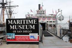 Морской музей Сан-Диего Стоковые Фото
