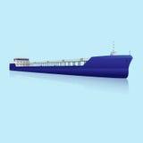 Морской нефтяной танкер с отражением иллюстрация штока