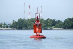 Морской оранжевый томбуй Стоковые Фотографии RF