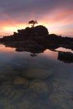 Морской остров II Twillight Labuan стоковое фото