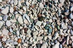 Морской пехотинец естественно округлил гравий, камешки стоковое фото