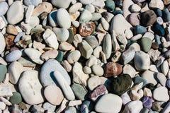 Морской пехотинец естественно округлил гравий, камешки стоковое фото rf