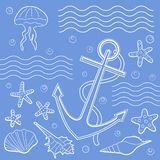морской пехотинец иллюстрации Стоковое Изображение