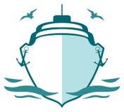 морской пехотинец логоса Стоковое Изображение