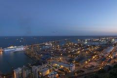 Морской порт в Барселоне стоковая фотография rf