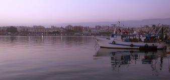 Морской порт в Manfredonia - Gargano - Apulia Стоковая Фотография