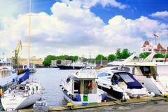 Морской порт в Soch стоковые фотографии rf