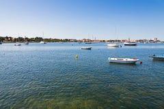 Морской порт города Umag, Istria, Хорватии Стоковая Фотография