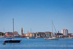 Морской порт города Umag, Istria, Хорватии Стоковое Фото