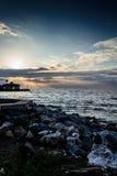 Морской порт городка летних каникулов Стоковые Фото