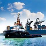 Морской порт груза. Краны груза моря. стоковые фото