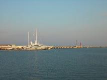 Морской порт, Марина яхты Сочи Стоковое Фото