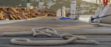 Морской порт с footbridge Стоковое Изображение RF