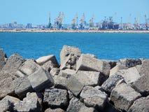 Морской порт Aktau стоковые изображения rf