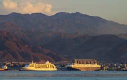 Морской порт Aqaba, Иордана стоковое фото rf