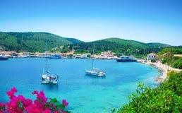Морской порт Kefalonia, Греция Стоковое Изображение