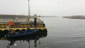 Морской порт Kolobrzeg, Польши сток-видео