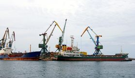 морской порт sakhalin острова стоковая фотография rf
