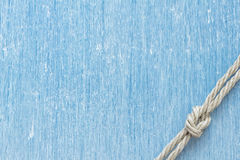 Морской узел над древесиной wintage Стоковое Изображение