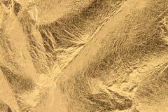 Морщинистое листовое золото стоковая фотография rf