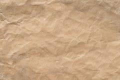 Морщинка Брайна рециркулирует бумажную предпосылку Была скомкана и creased текстура бумаги ремесла стоковая фотография