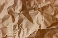 Морщинка Брайна рециркулирует бумажную предпосылку скомканная бумажная текстура Текстура rumpled старого бумажного конца-вверх стоковые изображения rf