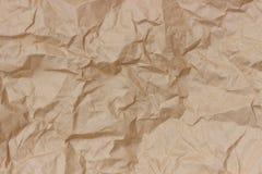 Морщинка Брайна рециркулирует бумажную предпосылку скомканная бумажная текстура Текстура rumpled старого бумажного конца-вверх стоковое фото rf