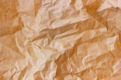 Морщинка Брайна рециркулирует бумажную предпосылку скомканная бумажная текстура Текстура rumpled старого бумажного конца-вверх стоковые изображения