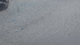 Морщинка на леднике Juneau Аляске Mendenhall Стоковые Изображения