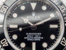 Моряки подводной лодки Rolex на белой предпосылке Стоковые Изображения