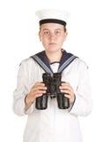 моряк военно-морского флота биноклей Стоковая Фотография RF