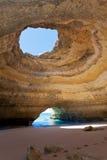 Мор-пещеры Португалия Benagil Стоковые Изображения RF