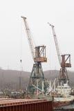 Мор-ремесла, доки и краны порта Стоковое Изображение