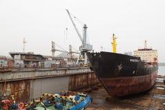 Мор-ремесла, доки и краны порта Стоковое Фото