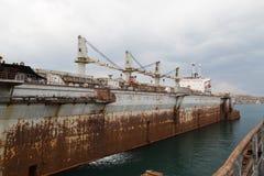 Мор-ремесла, доки и краны порта Стоковая Фотография RF