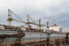 Мор-ремесла, доки и краны порта Стоковые Фотографии RF