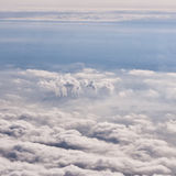 Москва в тумане с печными трубами Стоковые Фотографии RF