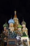Москва, красная площадь, собор базиликов St стоковые фотографии rf
