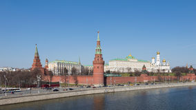 Москва Кремль весной Стоковые Фото
