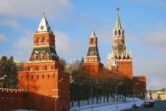 Москва Кремль в зиме Стоковое Фото
