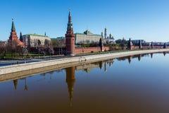 Москва Кремль и Иван большая колокольня Стоковое Изображение RF