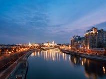 Москва Кремль на восходе солнца Россия Стоковая Фотография
