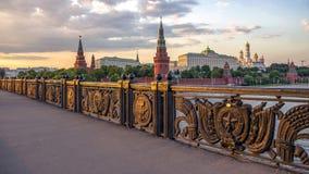 Москва Кремль на заходе солнца Стоковые Изображения
