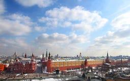 Москва Кремль на солнечный день Стоковая Фотография