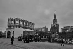 Москва - 15 04 2017: Москва Кремль, зимнее время Стоковая Фотография