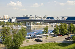 Москва, мост Bagrationovsky Стоковые Изображения