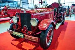 МОСКВА - 9-ОЕ МАРТА 2018: Пожарная машина 1929 REO на выставке Oldti Стоковое Изображение RF