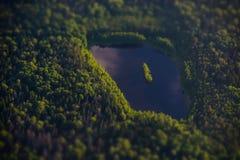 Москва, озеро от самолета Стоковое Фото
