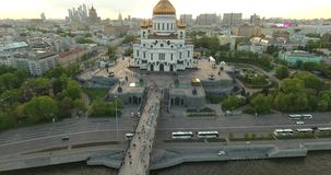Москва от высоты сток-видео